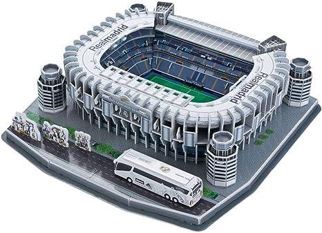 H O Sports Stadium Modelo 3d Real Madrid Bernabeu Stadium Modelo Souvenir Diy Puzzle 14 X14 X4 Amazon Es Hogar