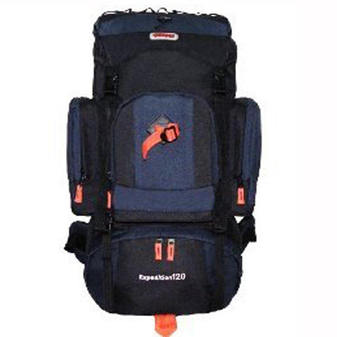Amazon.com   CUSCUS 120L Internal Frame Hiking Camp Backpack Travel Bag  Navy Black   Aluminum Frame Backpack   Sports   Outdoors 73b197289ad67
