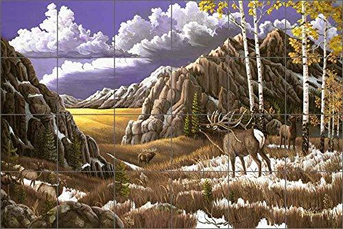 Elk Tile Mural Backsplash - Intruder by Lane Kendrick Ceramic Kitchen Shower Bathroom (36