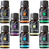 ArtNaturals Therapeutic-Grade Aromatherapy Essential Oil Set – Top 8 Pure of the Highest Quality Oils – Peppermint, Tea Tree, Rosemary, Sweet Orange, Lemongrass, Lavender, Eucalyptus, Frankincense – Therapeutic-Grad