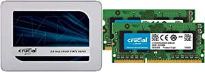 Crucial MX500 1TB 3D NAND SATA 2.5 Inch Internal SSD - CT1000MX500SSD1(Z) Bundle with Crucial 16GB Kit (8GBx2) DDR3/DDR3L 1600 MT/S (PC3-12800) Unbuffered SODIMM 204-Pin Memory - CT2KIT102464BF160B