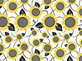 Floral Tissue Paper for Gift Wrapping 24 Decorative Sheets 20'' X 30'' (Sunflowers)