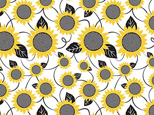 Floral Tissue Paper for Gift Wrapping 24 Decorative Sheets 20'' X 30'' (Sunflowers) by GBBD