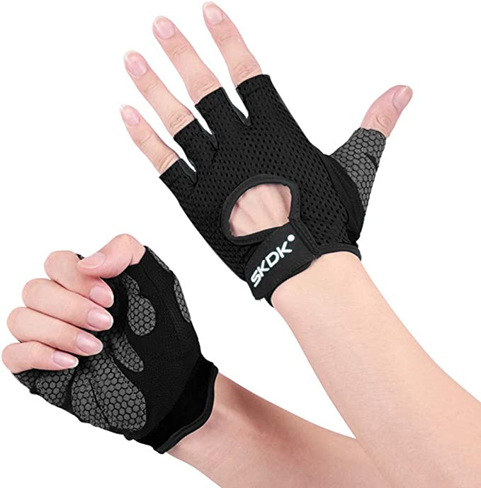 1 pair Weight Lifting Gym Gloves Gym Fitness Sports Gloves Protective Hand