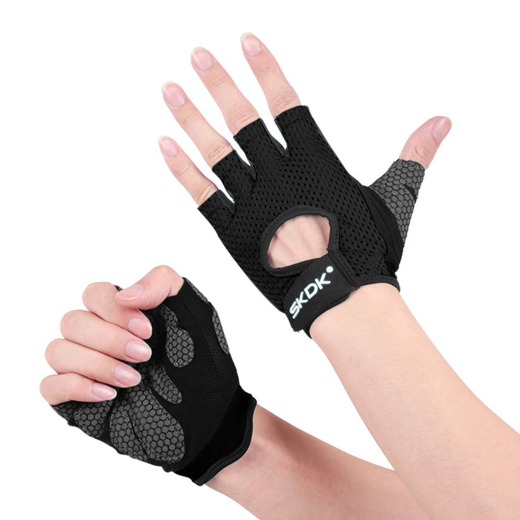Weightlifting Gloves Full Palm Protection for Pull-up Powerlifting Hemlock Gym Workout Gloves for Men Women