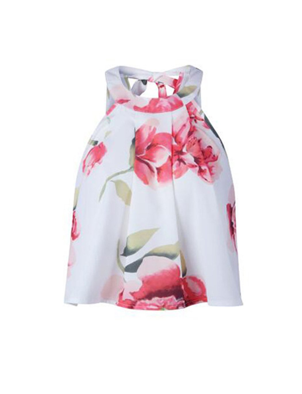 Women s Floral Printed Summer Dress Romper Boho Playsuit Jumpsuits Beach 2  Piece Outfits Top with Shorts 08818a82e