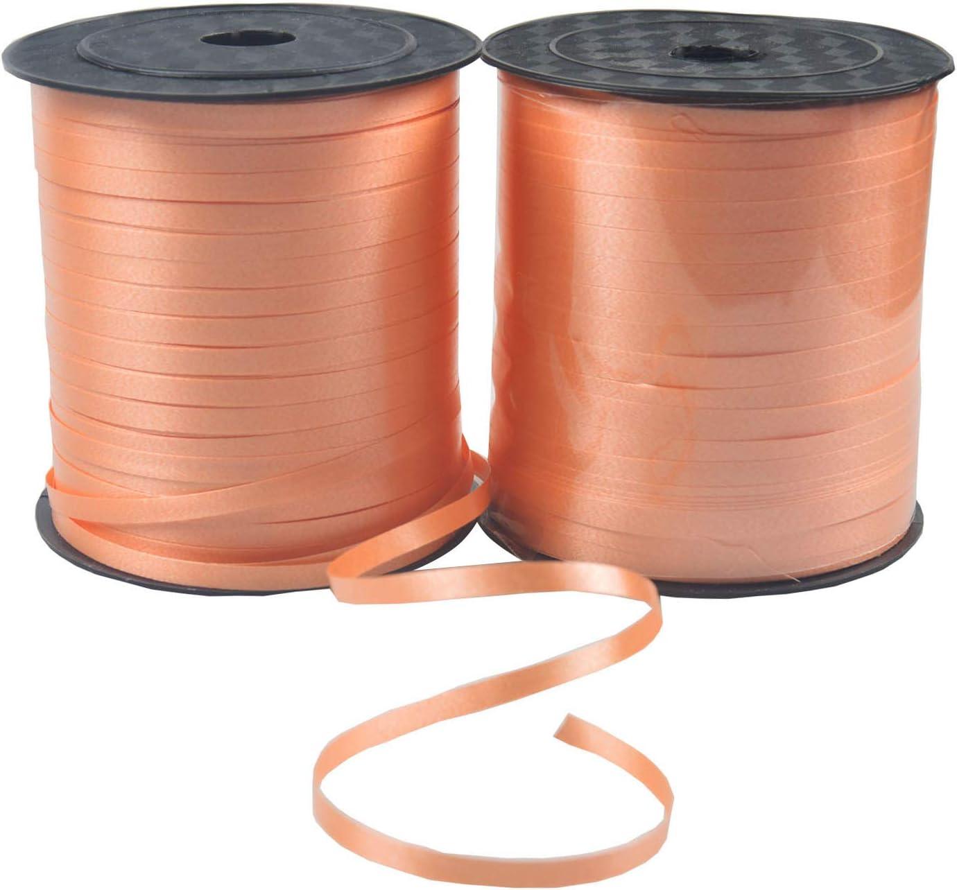 ALYNA 2 rollos de cinta de satén de doble cara de 500 yardas de ALYNA para envolver regalos, globos, bodas, fiestas de cumpleaños, festivales, decoración de fiestas rosa (Rojo): Amazon.es: Hogar