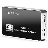 4k 60Hz Capturadora de Vídeo HDMI con Salida de Bucle, USB 3.0 con micrófono y audífono Salida, Capture una resolución…