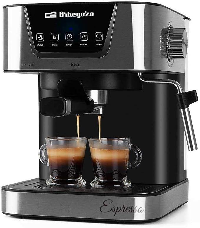 ORBEGOZO 17535 Cafetera automática para Espresso y Cappuccino EX 6000, 2 Cups, Negro: Orbegozo: Amazon.es: Hogar