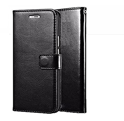 best authentic 0dd3f 858b7 nKarta (TM) Vintage Leather Wallet Flip Book Cover Case for Samsung Galaxy  J7 Pro - Black
