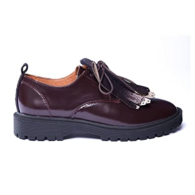 a44a517ba69a1 Armistice Rock Derby w patent caoutchouc bordeaux sole black pointure 40   Armistice  Amazon.fr  Chaussures et Sacs
