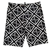 Season Show Womens Swimsuits Couple Matching Plaid Board Shorts Black Short L