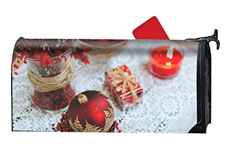 Mailbox Christmas Decorations.Amazon Com Fael Magnetic Mailbox Cover Christmas