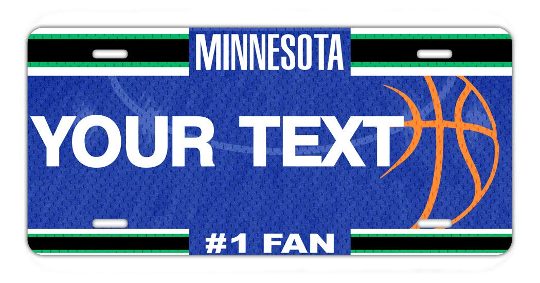 BRGiftShop Personalize Your Own Basketball Team Minnesota Car Vehicle 6x12 License Plate Auto Tag