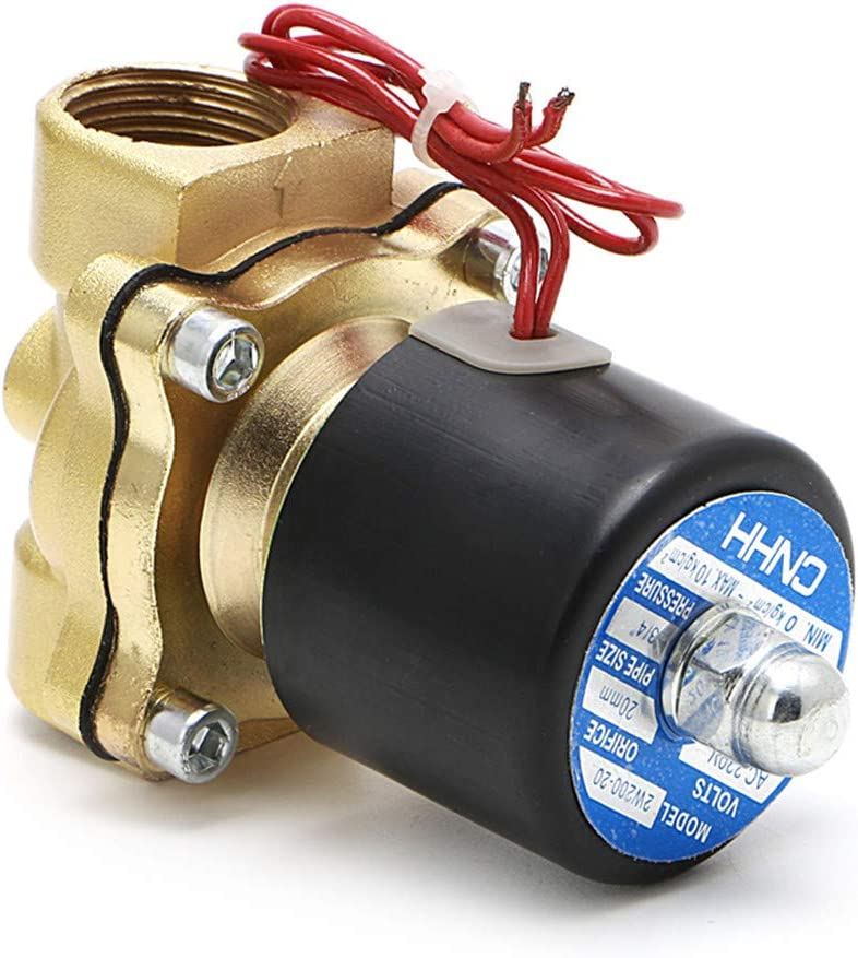 3//4 220V Electric Solenoid Valve Pneumatic 2 Port Water Oil Air Gas 2W-200-20