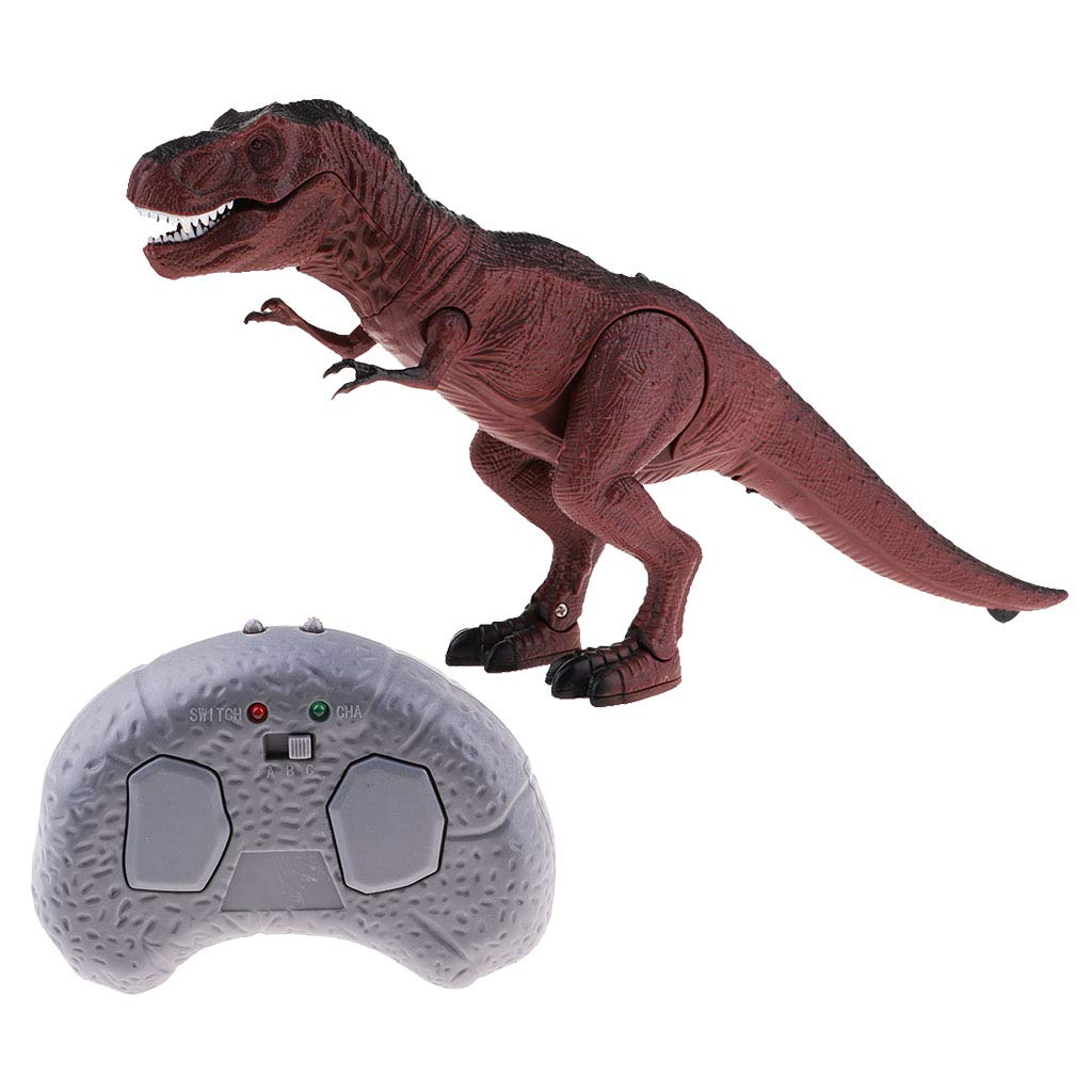 FLAMEER RC Dinosaurio Juguete Electró nico de Control Remoto con Luces y Sonidos para Niñ os - Triceratops