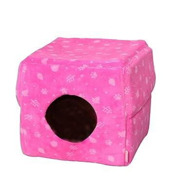 AYCC Cama Multiuso para Gatos, Colchón para Perros, Sofá Gato, Perrera, Patas, Ropa De Cama Suave para Gatos, Artículos para Mascotas,Pink: Amazon.es: Hogar