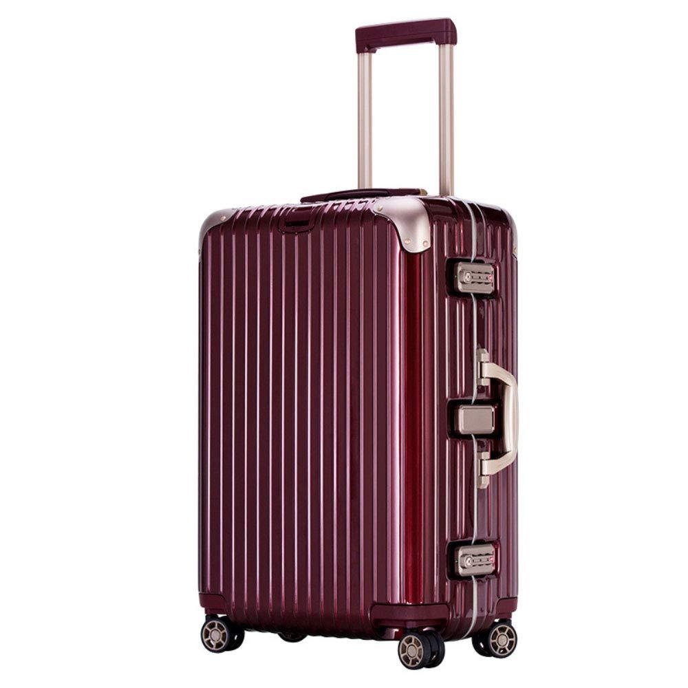 アルミフレームトロリーケース男性と女性のスーツケースユニバーサルホイールビジネス搭乗PCスーツケース(20/24/28インチ) (Color : 赤, Size : 28 inch)   B07RJBFBWQ