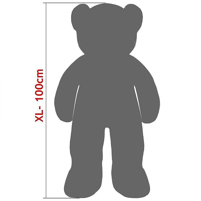 Oso de peluche gigante XL 100cm Suave, sedoso y mullido - Fabricación de alta calidad - diseño y colores realistas: Amazon.es: Juguetes y juegos