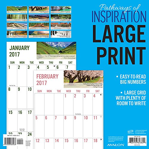2017 Monthly Wall Calendar - Pathways of Inspiration