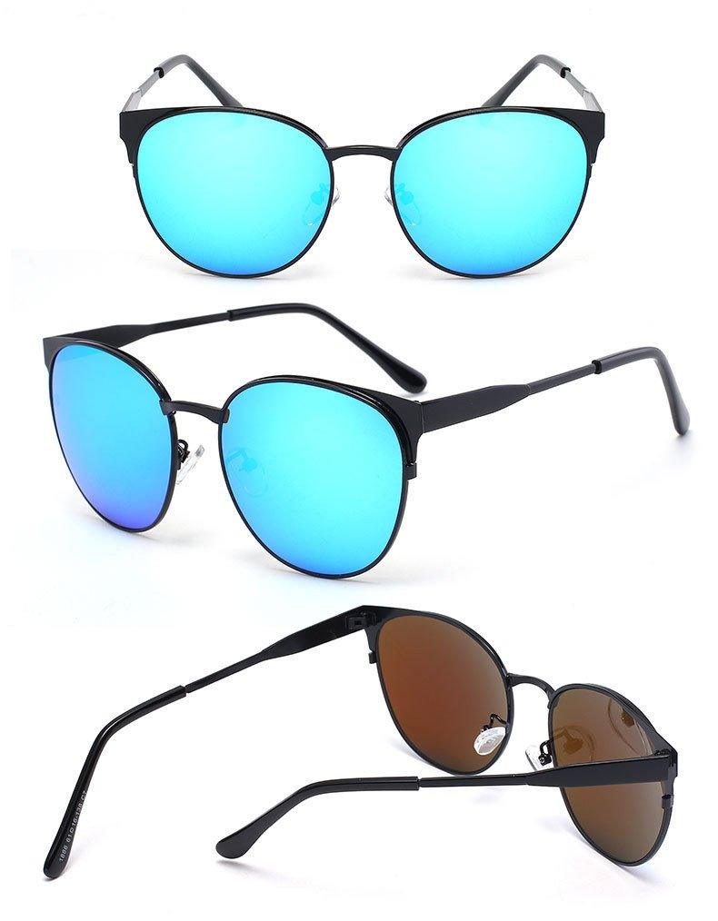 Amazon.com : 365Cor(TM) Fashion Coating cat eye Sunglasses ...