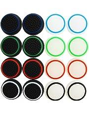 Pandaren® thumb grip caps 16 unidades noctilucentes Pack para PS2, PS3, PS4, Xbox 360, Xbox One, Wii U, Switch PRO mando