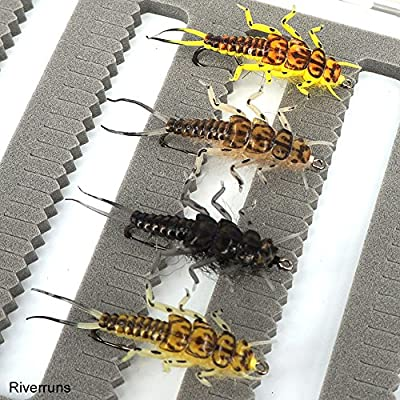 Riverruns Flies Realistic Flies Mayfly Stone Fly Caddis Dry And Nymp 4 Colors Trout Supreme Super Sturdy Proudly from Europe