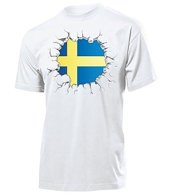 FANARTIKEL FUSSBALL SCHWEDEN FANSHIRT T-Shirt Herren S-XXL