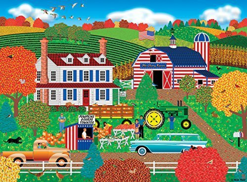 Old Glory Farm 1000pc Puzzle By: Americana Artist, Mark - Chipboard Frost