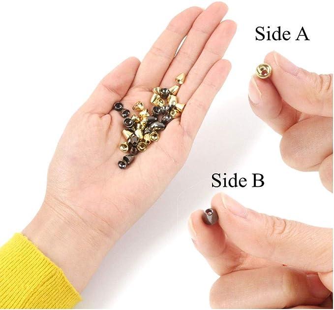 25 St/ück pro Packung Schwarznickel//Gold 6 * 6mm 5 * 4mm MAXIMUMCATCH Tungsten Coneheads 6 * 5mm Fliegenbinden Materialen 5 * 5mm
