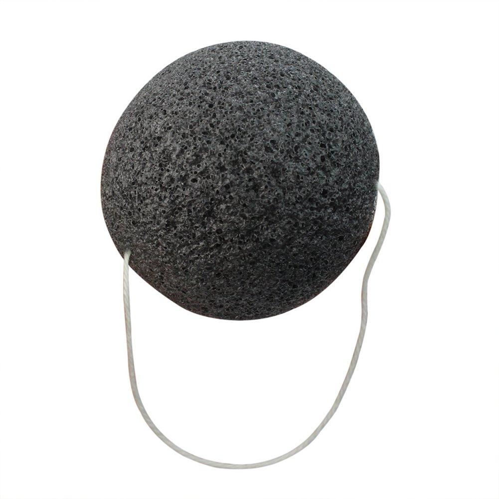 Natural Konjac Esponja Puff Limpiador Lavar Cara Limpieza Facial (negro) product image