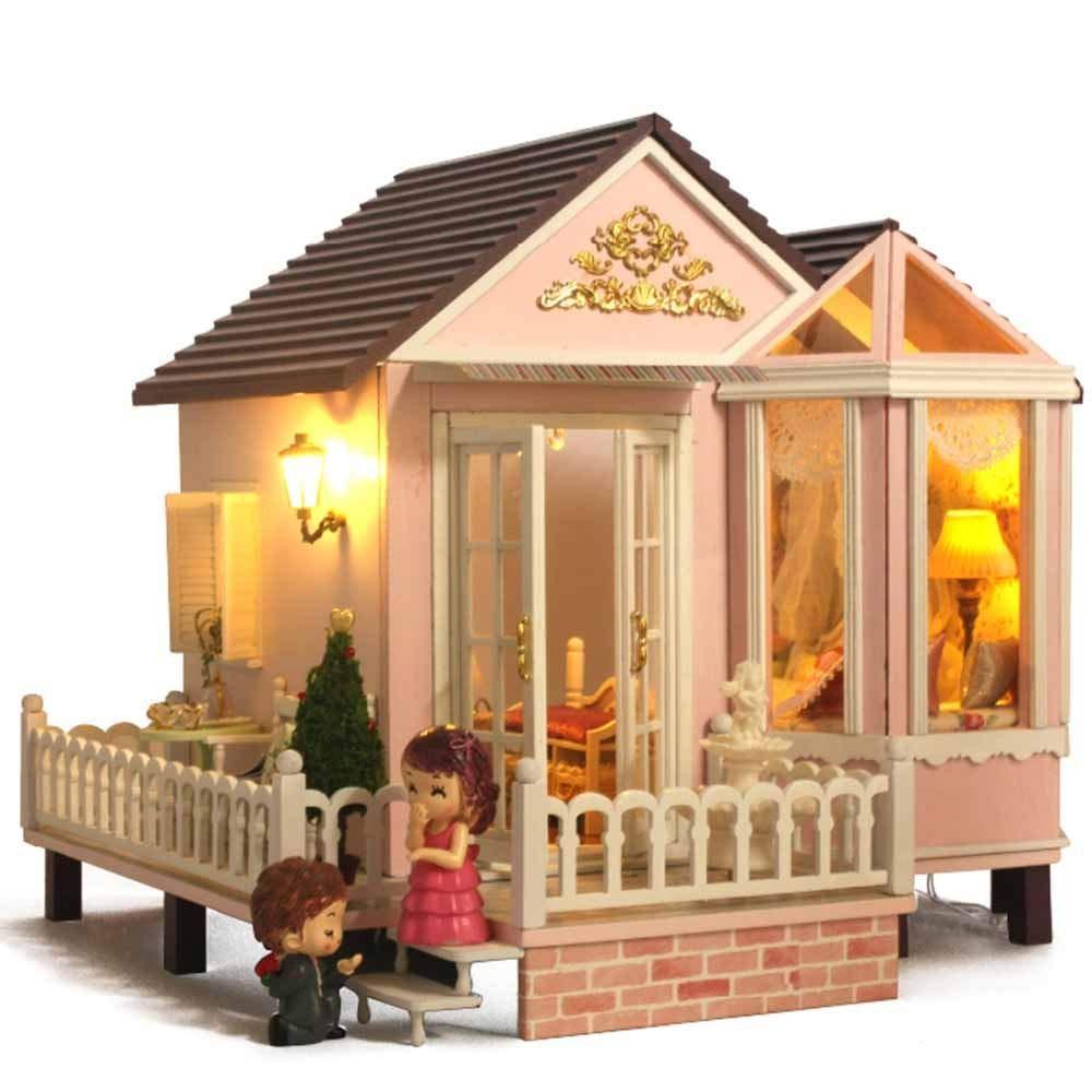comprar mejor GEPFD-DIY Rompecabezas 3D Casa de muñecas en en en Miniatura Juego de Bricolaje de Madera - Casas de muñecas con Muebles luz LED y Caja de música Mujeres y niñas  tienda de ventas outlet