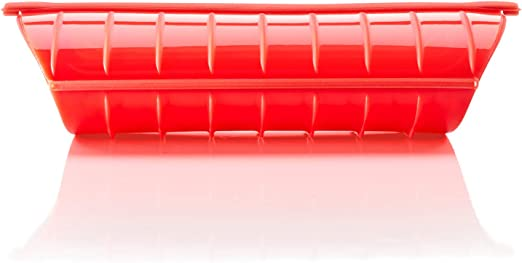 Lékué - Estuche de vapor, 1-2 personas, color rojo: Amazon.es: Hogar