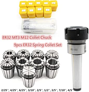 Extension Rod Collet chuck MT3 Milling M12 Straight Shank CNC Collets Hot