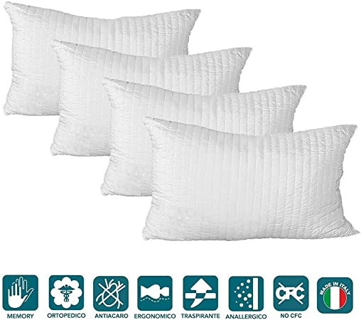 EvergreenWeb - Pack de 4 Almohadas Tejido Respirable ...
