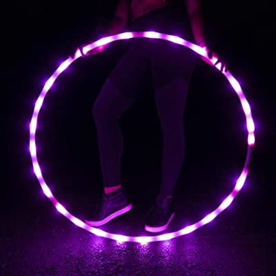 GlowCity Light-Up LED Hoola Hoop – 36 inch Glow-in-The-Dark Fitness and Dance Hoop for Adults and Kids (Pink Sapphire): Sports & Outdoors