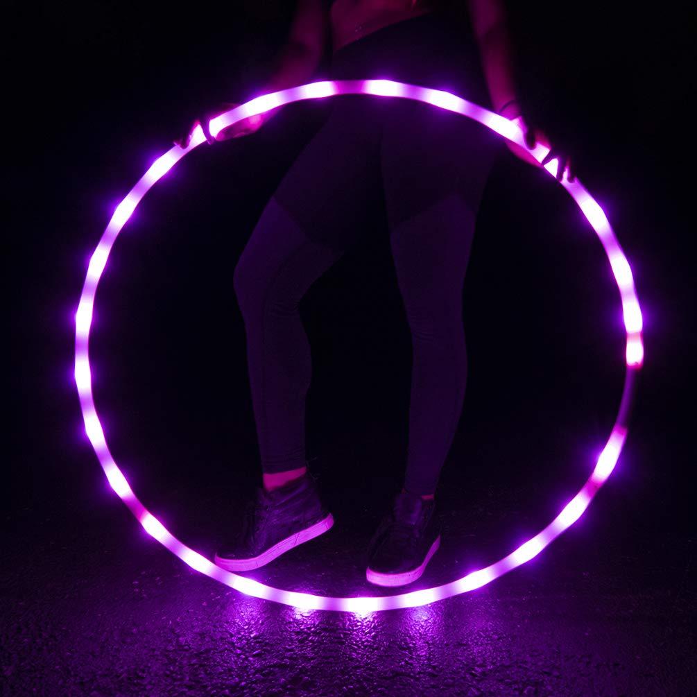 GlowCity Light Up LEDフラフープ  Pink Saphire B07D6YM6S4