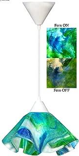 product image for Jezebel Signature Lily Pendant Large. Hardware: White. Glass: Fern