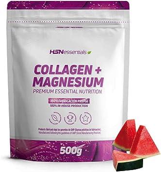 Colágeno Hidrolizado con Magnesio de HSN   Origen Bovino   Con Vitamina C   Belleza Natural de Piel, Cabello y Uñas   Sin Lactosa, Sabor Sandía, En Polvo, 500 gr: Amazon.es: Salud y cuidado personal