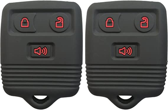 2Pcs Coolbestda Rubber Key Fob Case Keyless Cover Protector Skin for Ford F150 F250 F350 Explorer Ranger Escape Expedition