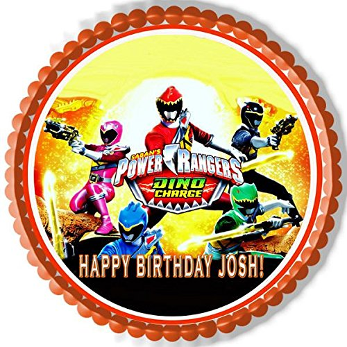 (Power Rangers Dino Charge (Nr2) - Edible Cake Topper - 6