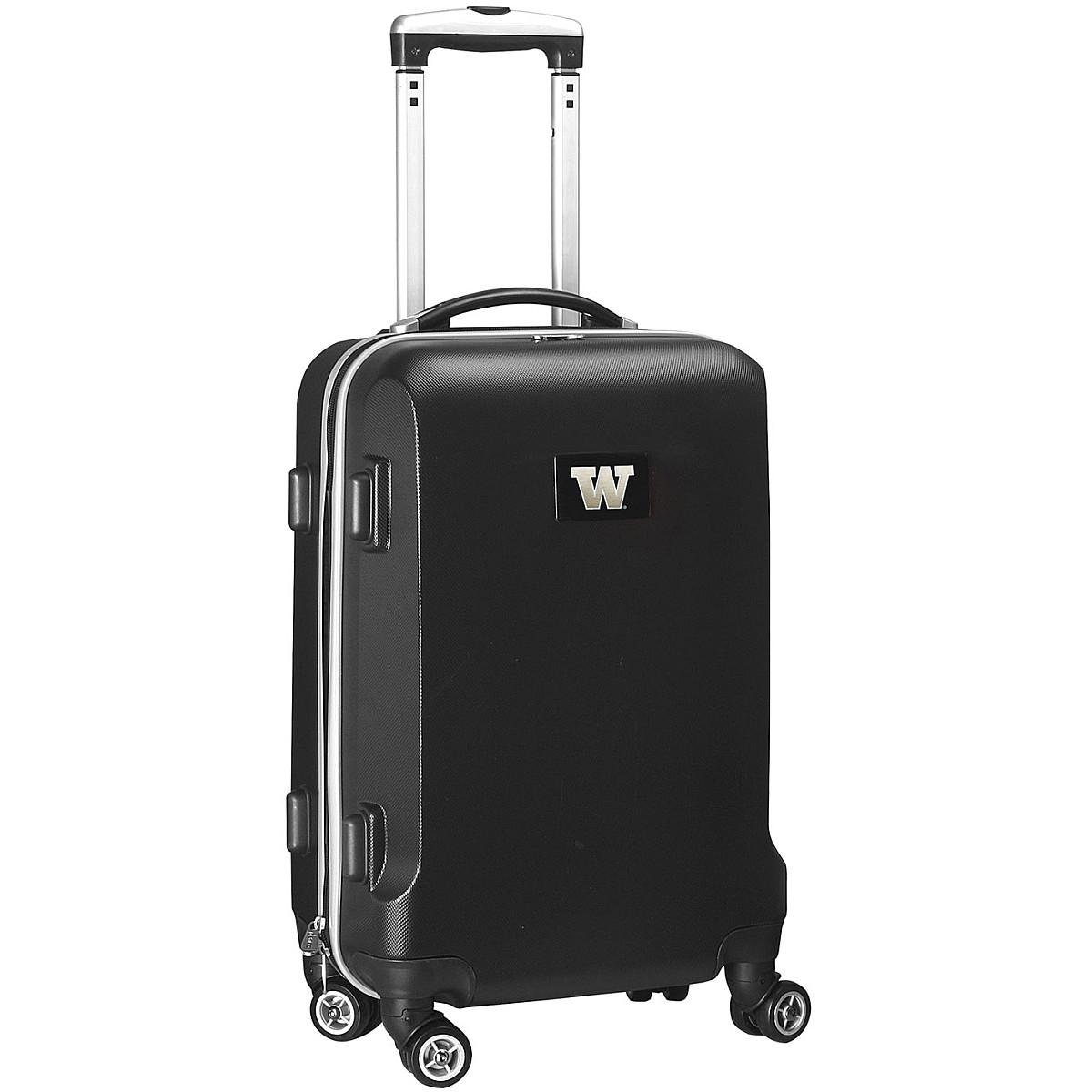Denco NCAA Auburn Tigers Carry-On Hardcase Luggage Spinner, Black