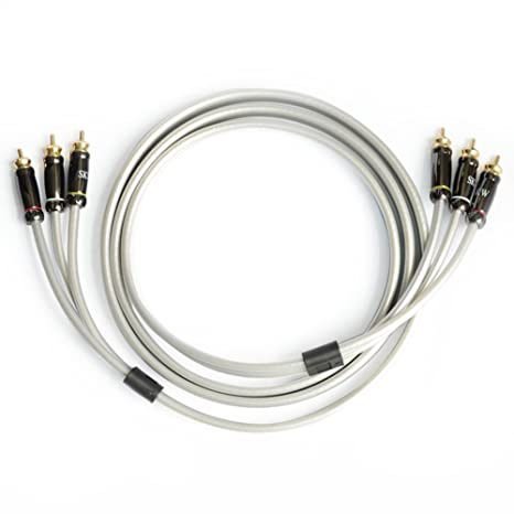SKW Audiophiles Digital Stereo Audio Cable Coaxial Cable 3RCA Male to 3RCA Male PVC Jacket Y