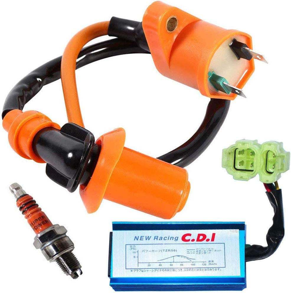 Racing 6 Pin CDI Box Ignition Coil For GY6 50 125 150cc ATV Kart Moped Scooter