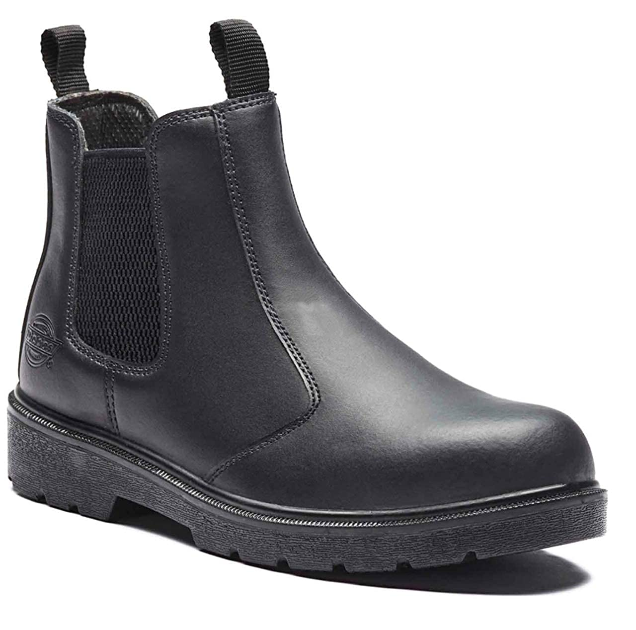 f115f72e26a3 Mens Dickies Slip ON Dealer Chelsea Work Safety Shoes Boots Steel Toe Cap  Size  Amazon.co.uk  Shoes   Bags