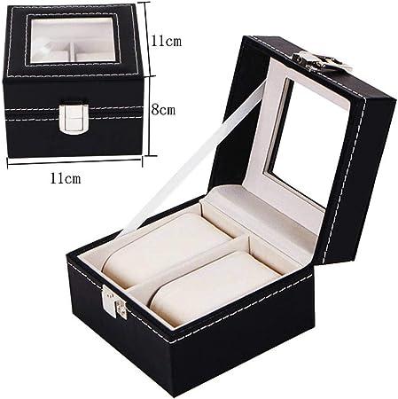 GOVD Caja para Relojes PU Cuero Estuche para Guardar Relojes para almacenar Relojes, Negro A: Amazon.es: Hogar