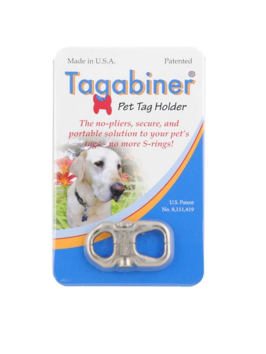 Tagabiner The New Pet Tag Holder Secure and Portable Solution to your Pets Tags