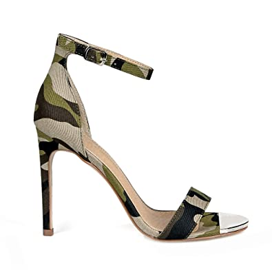 Cliff01 Ankle Strap Women's High Heel Sandals in Camouflage
