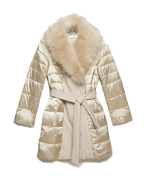 Motivi   Cappotto Piumino Beige 46 (Italian Size)  Amazon.it  Abbigliamento 00b6a3ef31a4