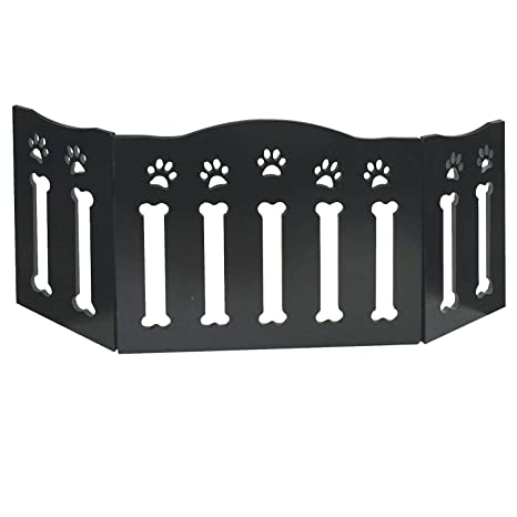 Etna Wooden Paws And Bones Pet Dog Gate Free Standing Tri Fold 19 Tall 47